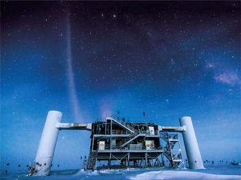 This lab at the South Pole gathers signals from the massive IceCube detector 1.5 kilometers below.  <i>PHOTO: FELIPE PEDREROS, ICECUBE/NSF</i>