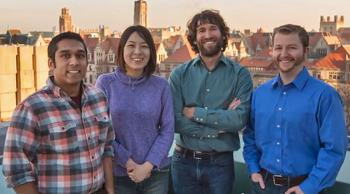 KICP graduate students Zoheyr Doctor and Hsin-Yu Chen; KICP senior member Daniel Holz; and KICP associate fellow Ben Farr.