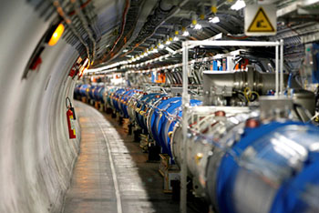The Large Hadron Collider at CERN in 2014. <i>Credit Pierre Albouy/Reuters</i>