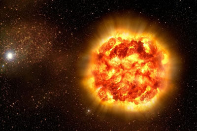 Artist's impression of how a Type Ia supernova, the type of exploding star used to discover dark energy, might look up close.  <i>Credit: ESO</i>
