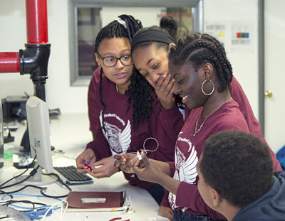 KICP Space Explorer Naa Ashitey (third from the left) is the Quest Bridge Finalist for the University of Chicago