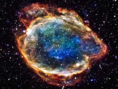 Supernova G299 New research confirms the role Type Ia supernovae, like G299 pictured above, play in measuring universe expansion. <i>Courtesy of NASA</i>