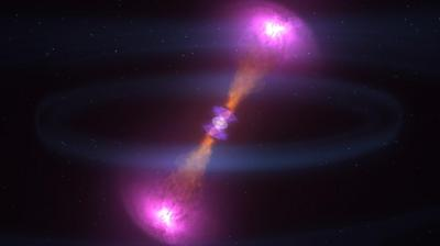 In new study, UChicago astronomers find no evidence for extra spatial dimensions to the universe based on gravitational wave data.  <i>Courtesy of NASAs Goddard Space Flight Center CI Lab</i>