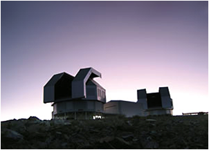 The twin Magellan telescopes at Chile's Las Campanas Observatory.