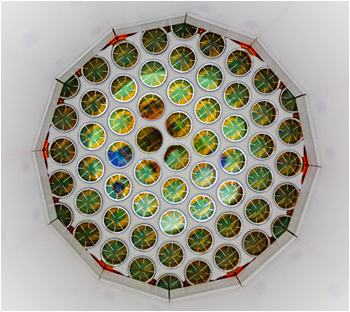 Inside the Large Underground Xenon dark matter detector.  <i>Image cradit: Matthew Kapust/South Dakota Science and Technology Authority</i>