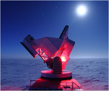 Physics Review magazine has named research results published earlier this year by the South Pole Telescope collaboration as one of the top 10 physics breakthroughs of 2013.
