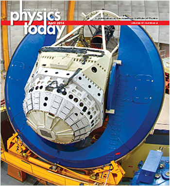 Physics Today, Volume 67, Issue 4, April 2014 cover: The Dark Energy Survey