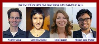 The KICP will welcome 4 new Fellows in the Autumn of 2015