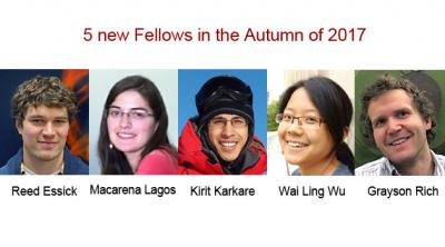 The KICP will welcome 5 new Fellows in the Autumn of 2017