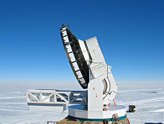Picture: South Pole Telescope in Around the World in 80 Telescopes webcast